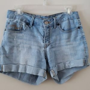 Faded Glory mid rise light wash shorts